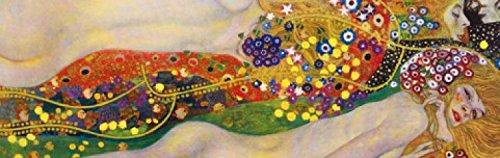 1art1 73677 Gustav Klimt - Wasserschlangen II, 1904-1907, 1-Teilig Fototapete Poster-Tapete 250 x 79 cm (1905 Poster)