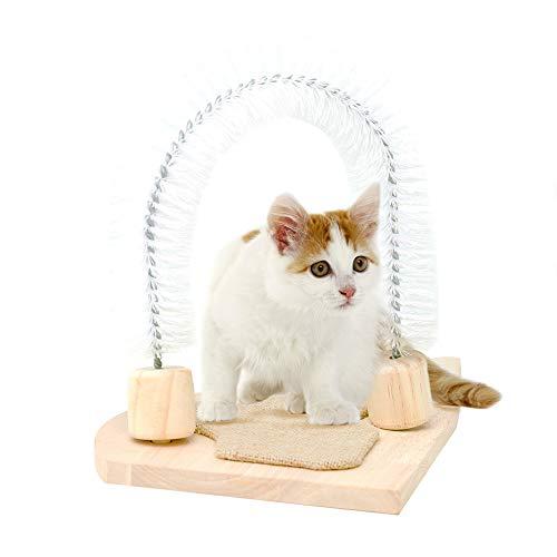 MEWANG Bogenförmige Massagebürste für Katzen