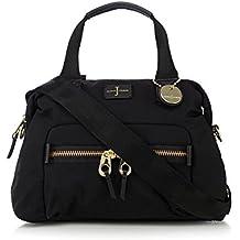 J By Jasper Conran Black Zip Detail Bowler Bag