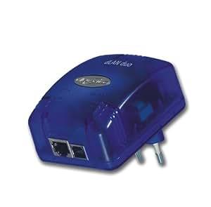 Devolo MicroLink dLAN duo Netzwerkadapter (USB und Ethernet 14 Mbit/s, Netzwerk aus der Steckdose) blau