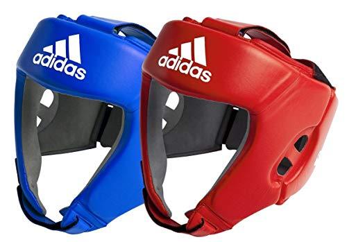 Adidas AIBA Boxing Heard Guards-Protector de Cabeza, Todo el año, Unisex, Color Rojo, tamaño Medium...