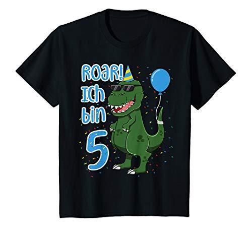 5 Jahre T-Rex Fünfter 5. Geburtstag Dinosaurier T-Shirt ()