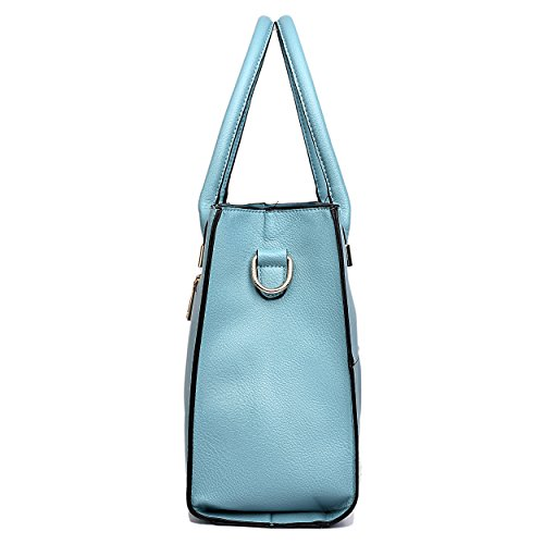 Miss Lulu, Borsa tote donna 1504 Blue