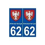 62 Aire-sur-la-Lys blason autocollant plaque stickers ville - droits