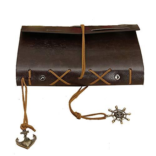 Neues Weinlese-Leder-Abdeckung Art Journal Notebook Diary- Brown 14,5 * 10,5 * 2,5 cm (L * B * H) / 5.7 * 4.1 * 1.0 Zoll braun