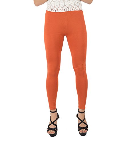 Legrisa Fashion Women's Rust Ankle Length Leggings in XL, XXL & XXXL  available at amazon for Rs.314