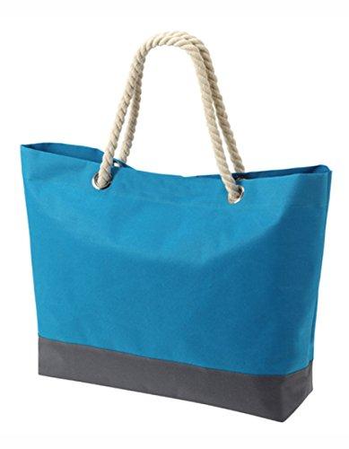 HALFAR® HF7785 Shopper Bonny Freizeittaschen Einkaufstaschen Tasche, Farbe:WHITE Blau