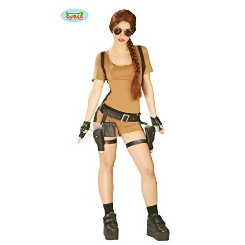 NET TOYS Costume da Lara Croft - L (IT 46/48) | Tomb Raider Camuffamento | Costume Avventuriera | Travestimento Videogioco