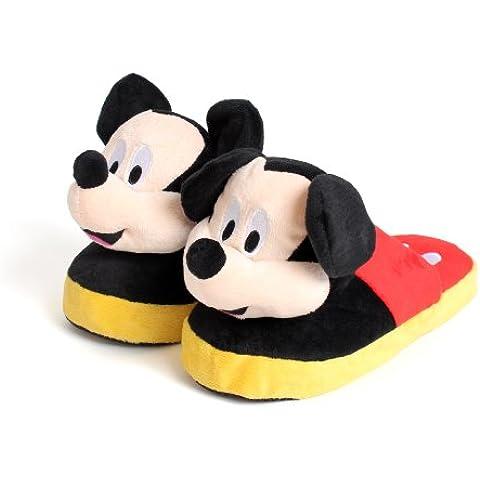 Disney Stompeez - Zapatillas de estar por casa - Diseño Mickey Mouse
