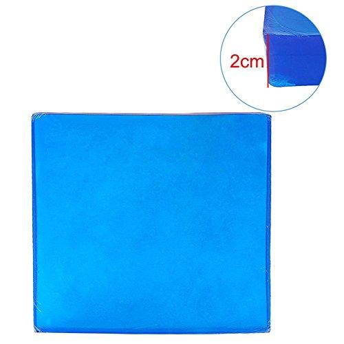 True-Ying Gel Pad 25 * 25 * 1/2 Cm Motorrad Motorrad Sitzkissen Gel Pad DIY Passagier Weichen Matte Touring Comfort Blau