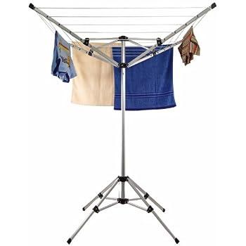 w schespinne mit f en st nder f r balkon oder camping aus aluminium k che haushalt. Black Bedroom Furniture Sets. Home Design Ideas