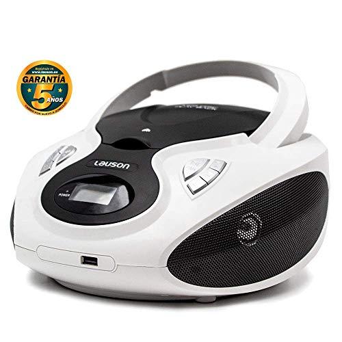 Lauson Radio Reproductor CD Portátil USB | Radio