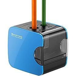 Sacapuntas Eléctrico, SMARTRO Automático, Funciona a Pilas y Alimentado por USB