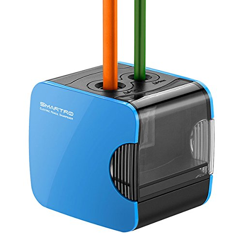 SMARTRO Electric Pencil Sharpener, Best USB or Battery Operated Heavy Duty for No.2 and Colored Pencil Test