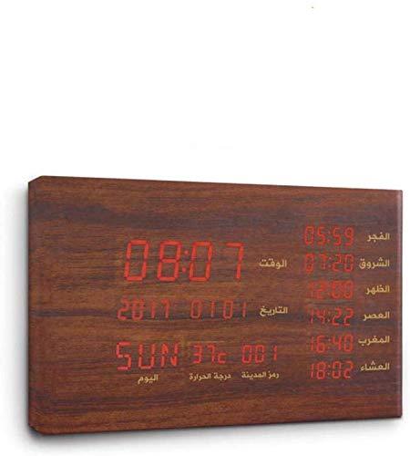 HIGHKAS Tragbarer Bluetooth-Lautsprecher Koran-Lautsprecher Wecker Holzuhr mit energiesparender und langlebiger, exquisiter Verarbeitung, Multifunktionswecker mit Zwei Funktionen