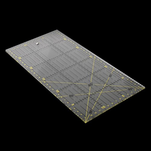 Li-an-ca Klar Acryl Lineal DIY Sewing Lineal Decoupage Patchwork Craft Sewing Multifunktions-Werkzeug -