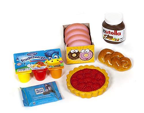 Polly Kaufladen Zubehör Set Fruchtzwerge, Schokolade Miniaturen,Donuts   Kinder Spielzeug für den Kaufmannsladen   Kinderkaufladen