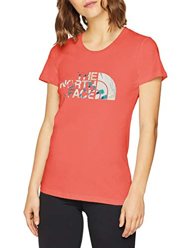 The North Face Easy Camiseta, Mujer, Rojo (Spiced Coral), XL