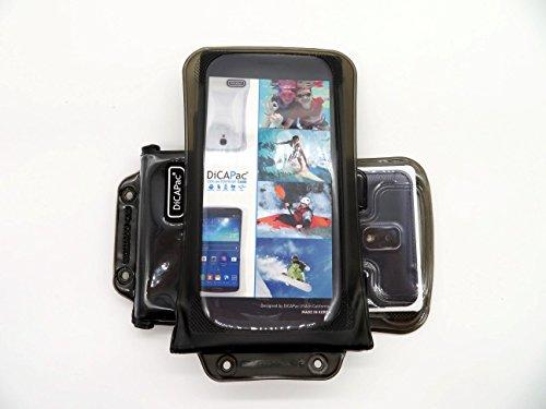 Note Cdma 3 Galaxy Samsung (DiCAPac WP-C2 Universelle wasserdichte Hülle für Samsung Galaxy Note 3 / 4 / 4 CDMA / 4 Duos / Edge Smartphones in Schwarz (Doppel-Klettverschluss, IPX8-Zertifizierung zum Schutz vor Wasser bis 10 m Tiefe; integriertes Luftkissen treibt auf dem Wasser & schützt das Gerät; extraklare Polycarbonat-Fotolinse; inklusive Trageriemen))