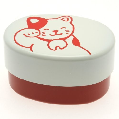 Kotobuki Crayon Bento Box, Red Happy Cat by Kotobuki (Kotobuki-bento)
