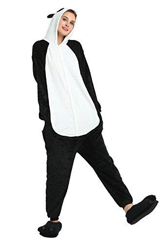 oamore Einhorn Pyjama Cartoon Tiere Pyjama Cosplay Kostüme Flanell Jumpsuits Unisex Erwachsene Kinder Nachtwäsche Party Kostüme (Panda, S) (Panda Kinder Kostüm)