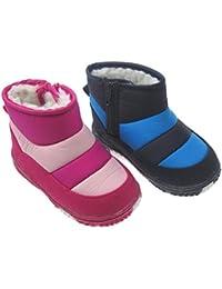 Tacto suave stb1853Boy para bebé o niñas resistente al agua nieve botas en dos tonos rosa o azul. Disponible en 15–18meses (19), 18–21meses (20), 21–24meses (21)