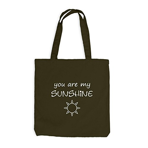 Jutebeutel - You're my Sunshine - Geschenk Sunny Friends Olive
