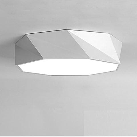 Ooccasion Lámpara De Techo Geométrica Minimalista Moderno Salón Dormitorio Estudio Restaurante Artes Creativas Lámparas Led De Personalidad Control Remoto , Negro 52Cm)