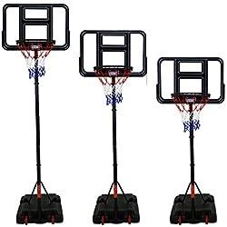 Charles Bentley Panier De Basket Hauteur Pondérée Panneau Stand - Portable - 3 Mètres Cerceau - 205-305 Cm
