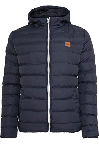 Urban Classics Basic Bubble Jacket blk-wht (TB863) Navy/White/Navy