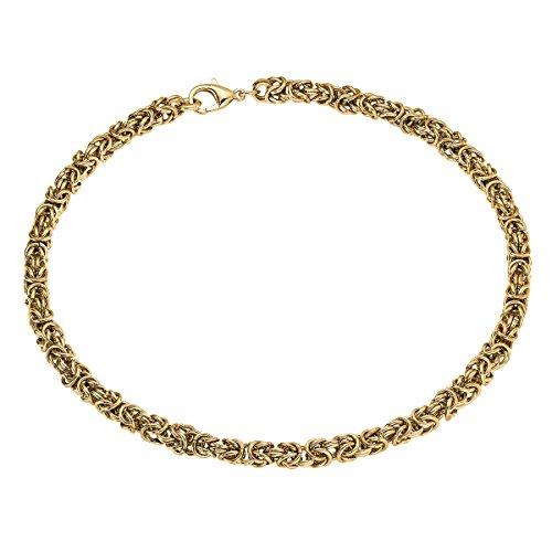 Heideman Halskette Damen Pars aus Edelstahl Gold farbend matt Kette für Frauen oder Männer Biker Königskette Panzerkette Länge 49cm