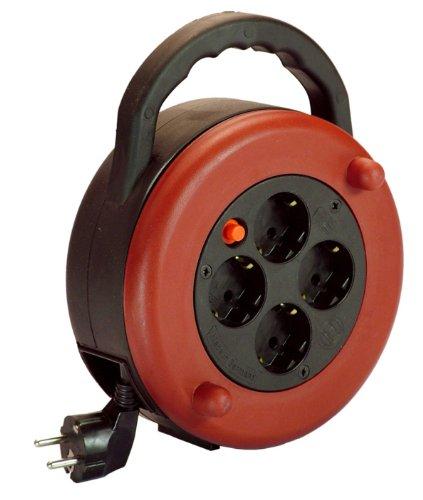 Preisvergleich Produktbild as - Schwabe 16155 Kabelbox weinrot 7,5m H05VV-F 3G1,5, schwarz, IP20 Innenbereich