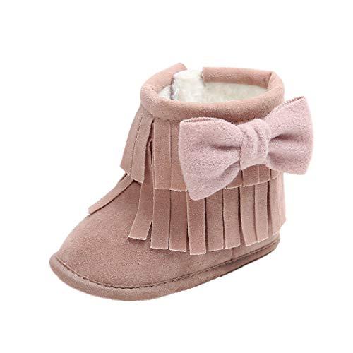 Auxma Baby schönen Herbst Winter warme weiche Sohle Schneeschuhe weiche Krippe Schuhkleinkind Stiefel (12cm(0-6 Monate), ZZ)