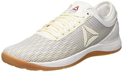 Reebok R Crossfit Nano 8.0, Chaussures de Fitness Homme, Blanc Classic White/Excellent Red/Blue/G 000, 46 EU