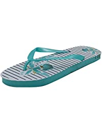 d7e029f8a3b3 Ladies   Womens Sand Rocks Striped Floral Print Summer Flip Flops Pink  Turquoise