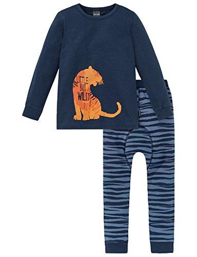 Schiesser Jungen Zweiteiliger Schlafanzug Kn Anzug Lang, Blau (Dunkelblau 803), 104