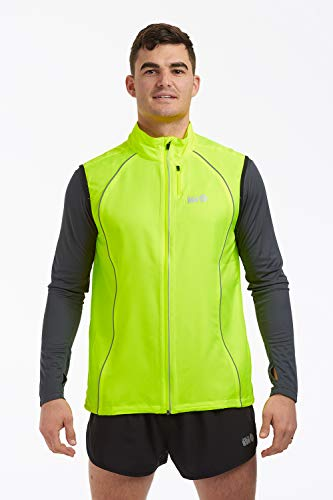 Time To Run - Gilet da corsa antivento Uomo M Lime Verde