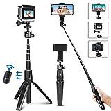 PEYOU Perche Selfie Bluetooth, 41 inch 3 en 1 Monopied de trépied extensible avec Télécommande...