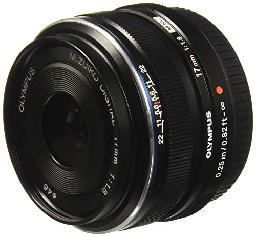 Olympus M.Zuiko Digital 17mm F1.8 Objektiv (lichtstarke Festbrennweite, geeignet für alle MFT-Kameras, Olympus OM-D und PEN Modelle, Panasonic G-Serie) schwarz