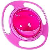 sztara Funny Spielzeug Baby trainieren Geschirr 360Dgree Rotation auslaufsicher Gyroskop Schüssel Flying Disk Schalen mit Deckel grün und orange, rosarot, Einheitsgröße