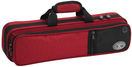 KACES KBF-RFL4 - FUNDA PARA FLAUTA TRAVESERA  COLOR ROJO
