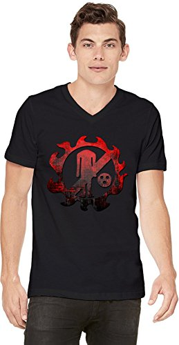 New Fishman Pirates Logo T-shirt col V pour hommes Small
