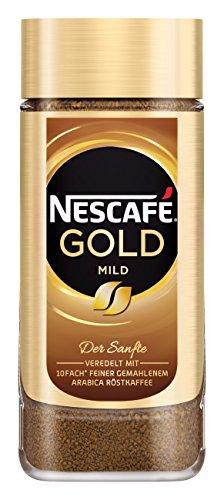 Nescafé Gold Mild löslicher Bohnenkaffee (aus erlesenen Arabica-Kaffeebohnen, Instant-Pulver,...