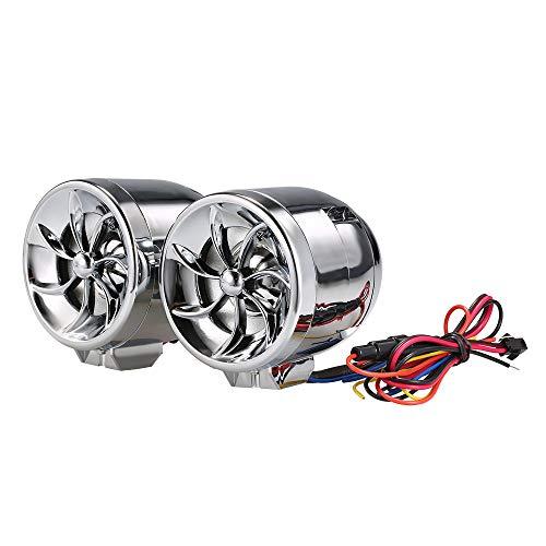KKmoon Audio Reproductor de Música FM USB TF AUX Sistema de Alarma Diseño de Navegación para Motocicleta