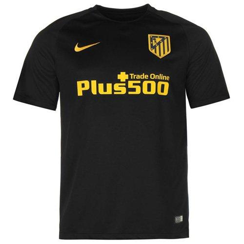 Nike ATM Y Dry STAD JSY SS AW Camiseta de Manga Corta, Niños, Negro / Amarillo, S