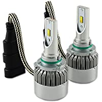 Car ha condotto il faro kit lampadine hi / lo kit di conversione super luminosa lampadina di ricambio faro 9005 6000K Pure White.