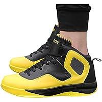 Memefood Hombre Zapatillas de Baloncesto Calzado Deportivo Al Aire Libre Moda High-Top Sneaker Antideslizante Zapatillas de Deporte Ligeros Zapatos para Correr Transpirable Lace Up
