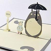 BC Worldwide Ltd handmade 3D pop up birthday card TOTORO My Neighbor Japanese comic cartoon film movie fairy tale child book wedding anniversary Valentines