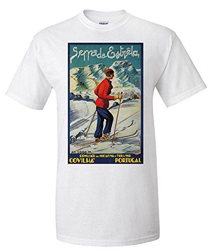 serra-da-estrela-vintage-poster-artist-abrau-portugal-c-1940-premium-t-shirt