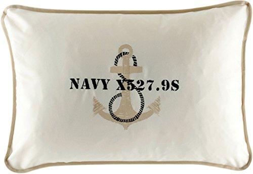 MB Coastal Designs Anchor Überwurf Kissen gebrochenes weiß Galleyware Flags